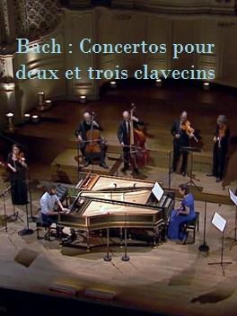 """Bach : """"Concertos pour deux et trois Clavecins""""   Benisty, Nathan (Réalisateur)"""