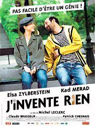 Movie poster of J'invente rien