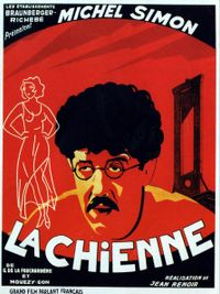 Movie poster of La Chienne